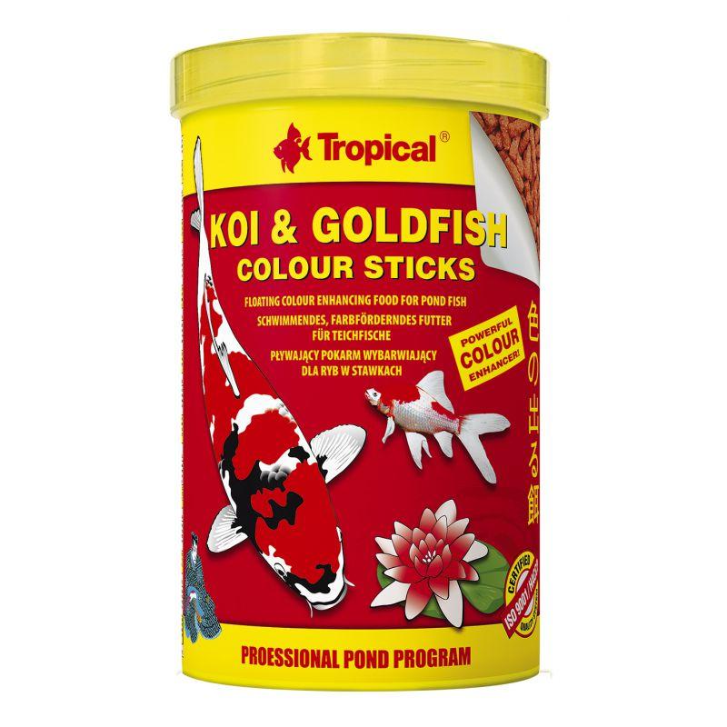 Tropical koi goldfish color sticks fischfutter f r fische for Koi und goldfische im gartenteich
