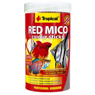 Tropical Red Micro Colour Sticks Fischfutter mit Astaxantin und Paprika Extrakt
