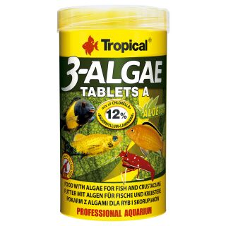 Tropical 3-Algae Tablets A proteinreiches pflanzliches Fischfutter 50ml