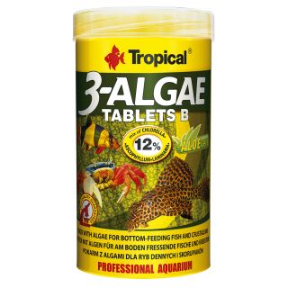 Tropical 3-Alae Tablets B proteinreiches pflanzliches Fischfutter 50ml