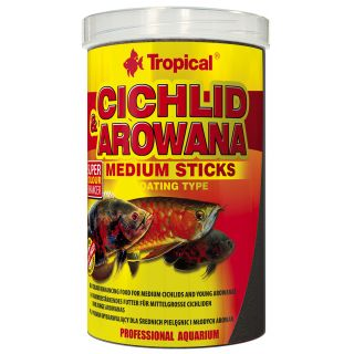 Tropical Cichliden & Arowana Medium Sticks Farbfutter Fischfutter 250 ml